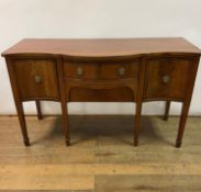 A mahogany serpentine front sideboard, 153 cm wide