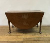 A 19th century mahogany drop leaf dining table, 125 cm wide