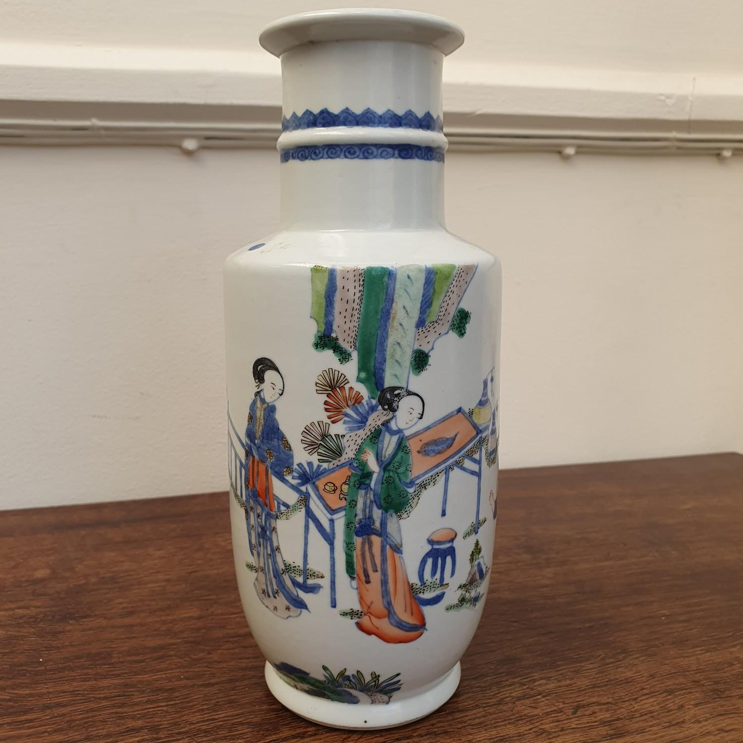 A Chinese vase, decorated figures, 24 cm high - Image 7 of 11