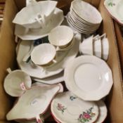 A Demi Porclaine part dinner service, and various other ceramics (2 boxes)