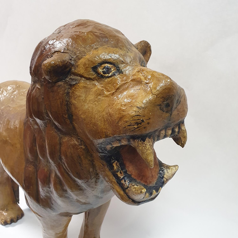 A painted papier mache lion, 70 cm high - Image 2 of 4