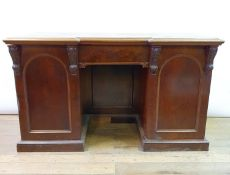A 19th century mahogany inverted breakfront sideboard, 160 cm wide