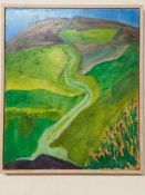 Betty Dunford, Hills above Corfe, oil on board, signed, 30.5 x 25 cm, and six others by the same (7)