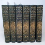 Morris (Rev S O) A History of British Birds, 1870, 6 vols, illus, second edition, gilt dec cloth (6)