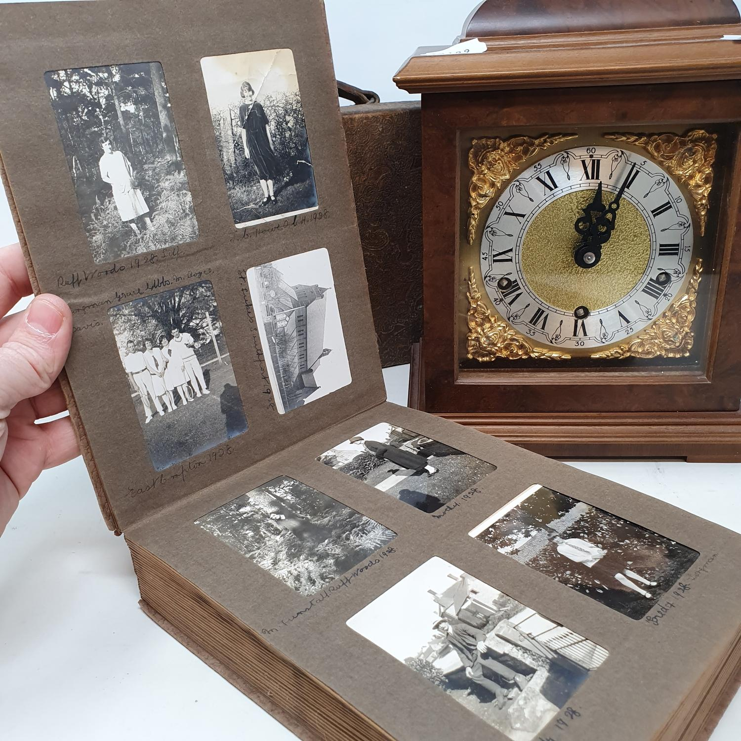 A 20th century mantel clock, an oak box, two coal scuttles, various metalware and other items (qty) - Image 2 of 8