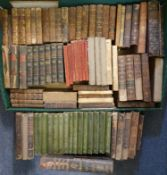 Assorted leather and other bindings, generally poor condition (box)