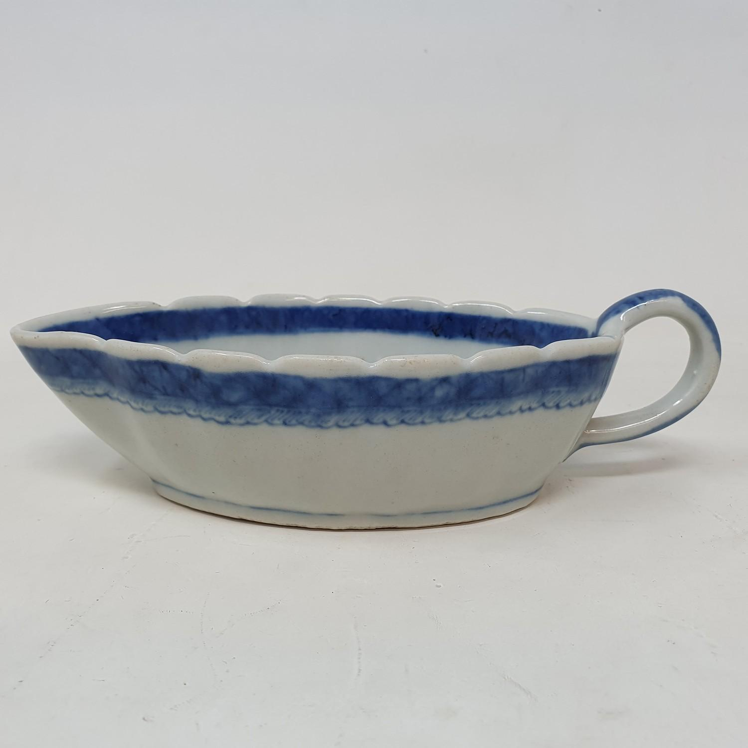 A Chinese blue and white sauceboat, 20 cm wide