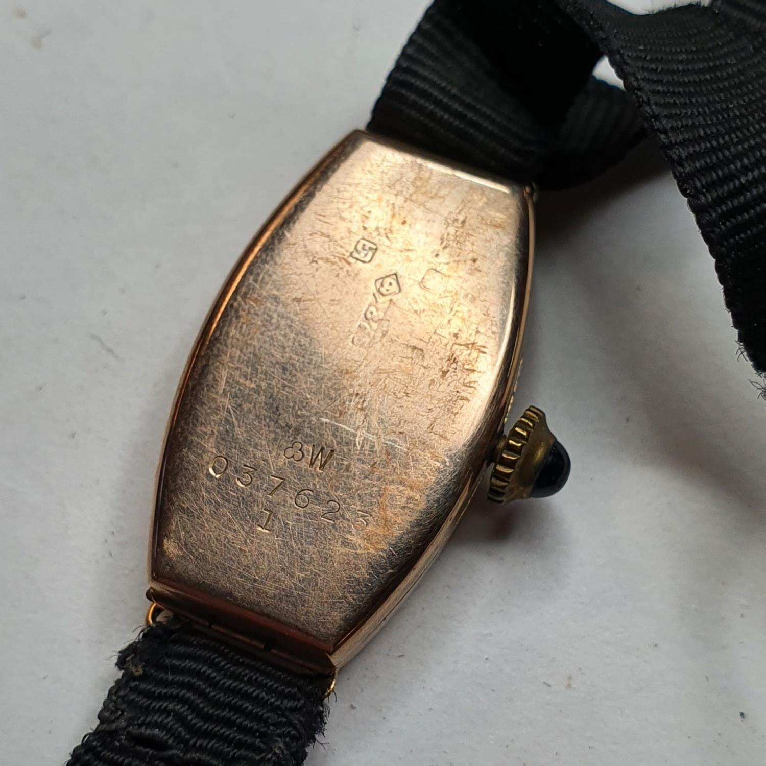 A lady's 9ct wristwatch, costume jewellery and other items - Image 2 of 2