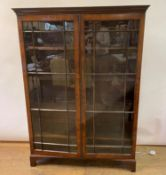 A mahogany display cabinet, on bracket feet, 120 cm wide