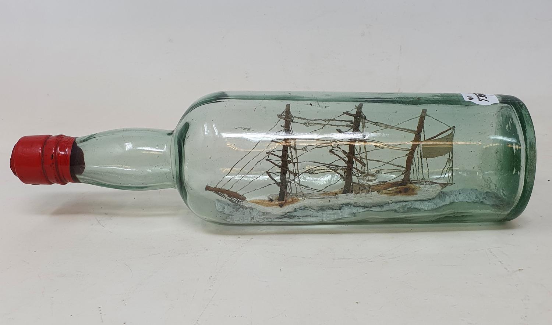A ship in a bottle, 31 cm wide