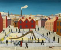 William A Cooper (b. 1923), The Playground, mixed media, 61 cm x 75 cm Signed titled and dated