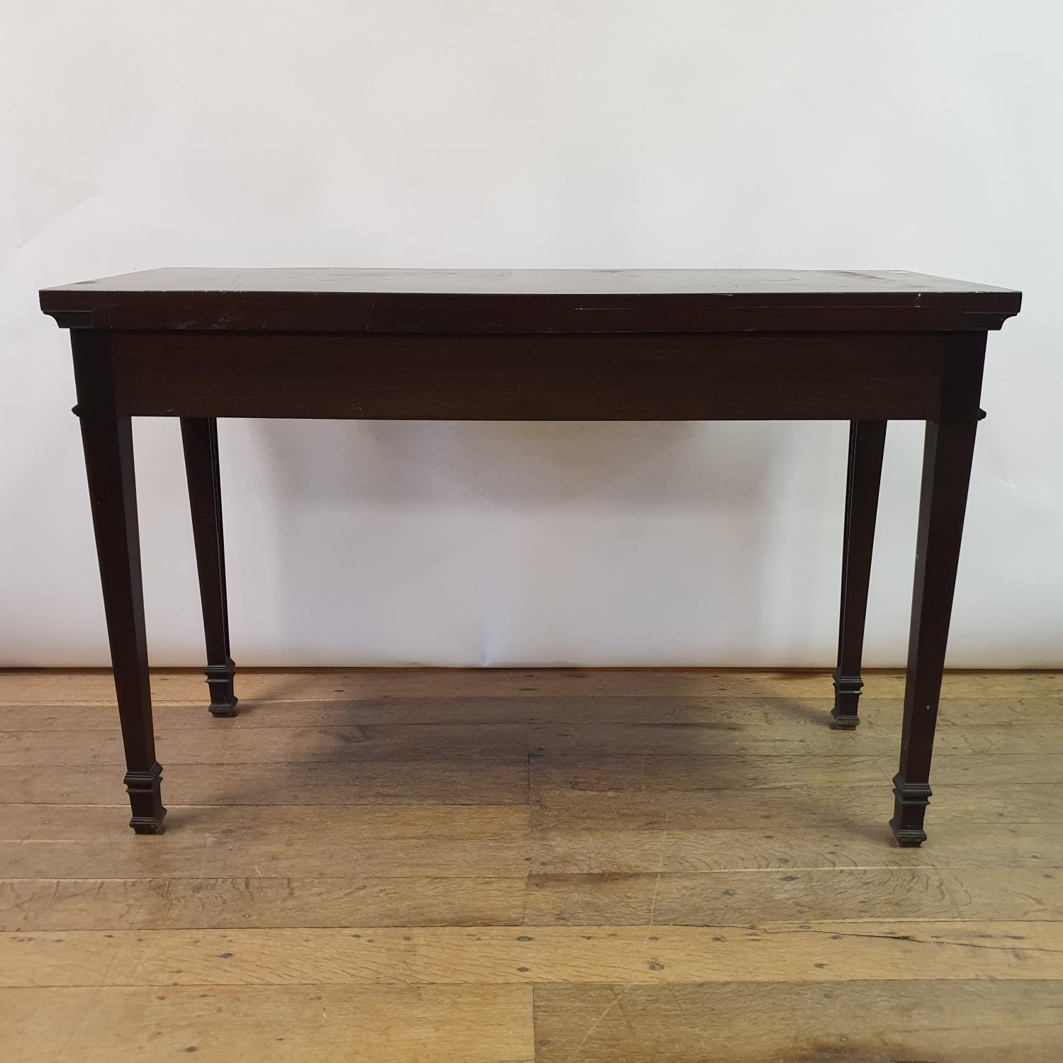 An early 20th century Adams revival mahogany side table, having a frieze drawer with carved rams - Image 2 of 7
