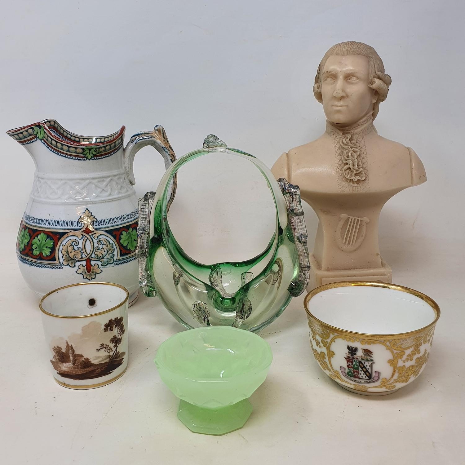 Assorted ceramics, and other items (box)
