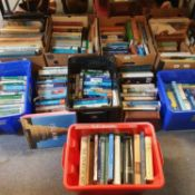 A large group of assorted travel and other volumes (8 boxes)
