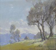 Robert Leslie Howey, dales landscape, pastel, signed on the mount, 22 x 24 cm