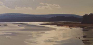 James Fry (1911-1985), Goathorn, oil on canvas monogrammed, signed and titled verso, 37 x 75 cm