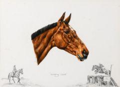 Ann Seward, Rockspray Castle, watercolour, 34 x 48 cm