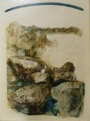 John Papas, abstract, mixed media, 60 x 45 cm