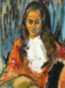 Georgette Seabrook Powell (1916-2011), a portrait of a woman, mixed media, 40 x 30 cm