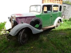 1934 Vauxhall 12/6 Registration number AXT 27 Being sold without reserve A project needing full