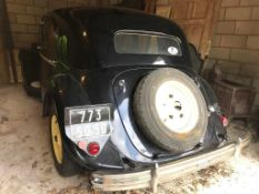 1951 Citroen 15 Six French registration number 773 SQ 50 Imported 1992, duties paid Not UK road