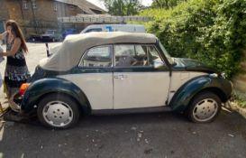 1974 VW Karmann Beetle Convertible Registration number OTR 559M Left hand drive California import