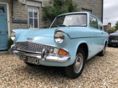 A 1966 Ford Anglia 105E Deluxe Registration number GUF 819D South African Car 68,826 recorded