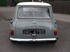 1965 Morris Cooper Registration number HKL 479D Tweed grey with a Old English white roof Matching