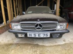 Mercedes-Benz 380 SLC Registration number BWP 946M Being sold without reserve