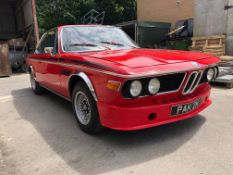 1974 BMW 3.0 CSL Registration number PAK 2M Chassis number 2285402 Verona red with a black