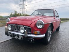 1968 MG C GT Registration number UYN 543F Red with black leather piped in red MOT expires January