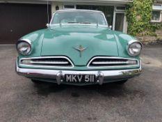 1953 Studebaker Commander Registration number MKV 511 Chassis number 8306086 Engine number V223480