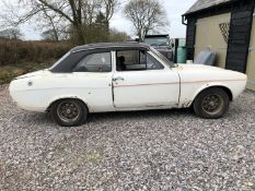 1975 Ford Escort RS2000 MK I Registration number JBY 956N Diamond white Understood to be from the