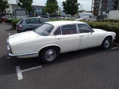 1986 Daimler 3.4 Registration number MHY 656R White with a salmon pink velour interior New head