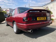 1992 Ford Sierra Sapphire Cosworth 4x4 Registration number K813 PCM Nouveau red, Recaro seats Bought