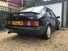 1986 Escort RS Turbo Registration number D764 LKR Being sold without reserve Black V5C Owned 9 years
