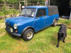 A 1972 Mini Pick-Up Registration number NPH 953L Chassis number AXAU1-781866A Blue with a black