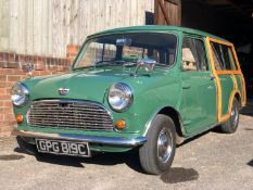1965 Austin Mini Countryman Registration number GPG 819C Chassis number AAW7/677449 Engine number