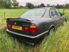 1990 BMW 535i Registration number G419 NYC Being sold without reserve One owner Black with a black