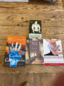 A group of modern books, sealed in plastics wrapping, including Feiss (H) Monastic Wisdom, Miller (