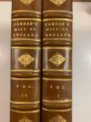 Camden (T) The Imperial History of England, 2 vols, 1811, some foxing and staining, calf, with