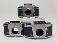 An Exakta VX 1000 camera body, and two Exakta camera bodies (3) Provenance: Part of a vast single