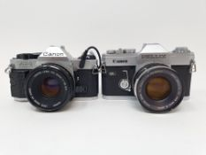 A Canon Pellix camera and a Canon AE-1 camera (2) Provenance: Part of a vast single owner collection