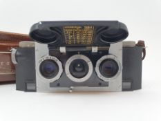 A Stereo Realist camera, with leather outer case Provenance: Part of a vast single owner