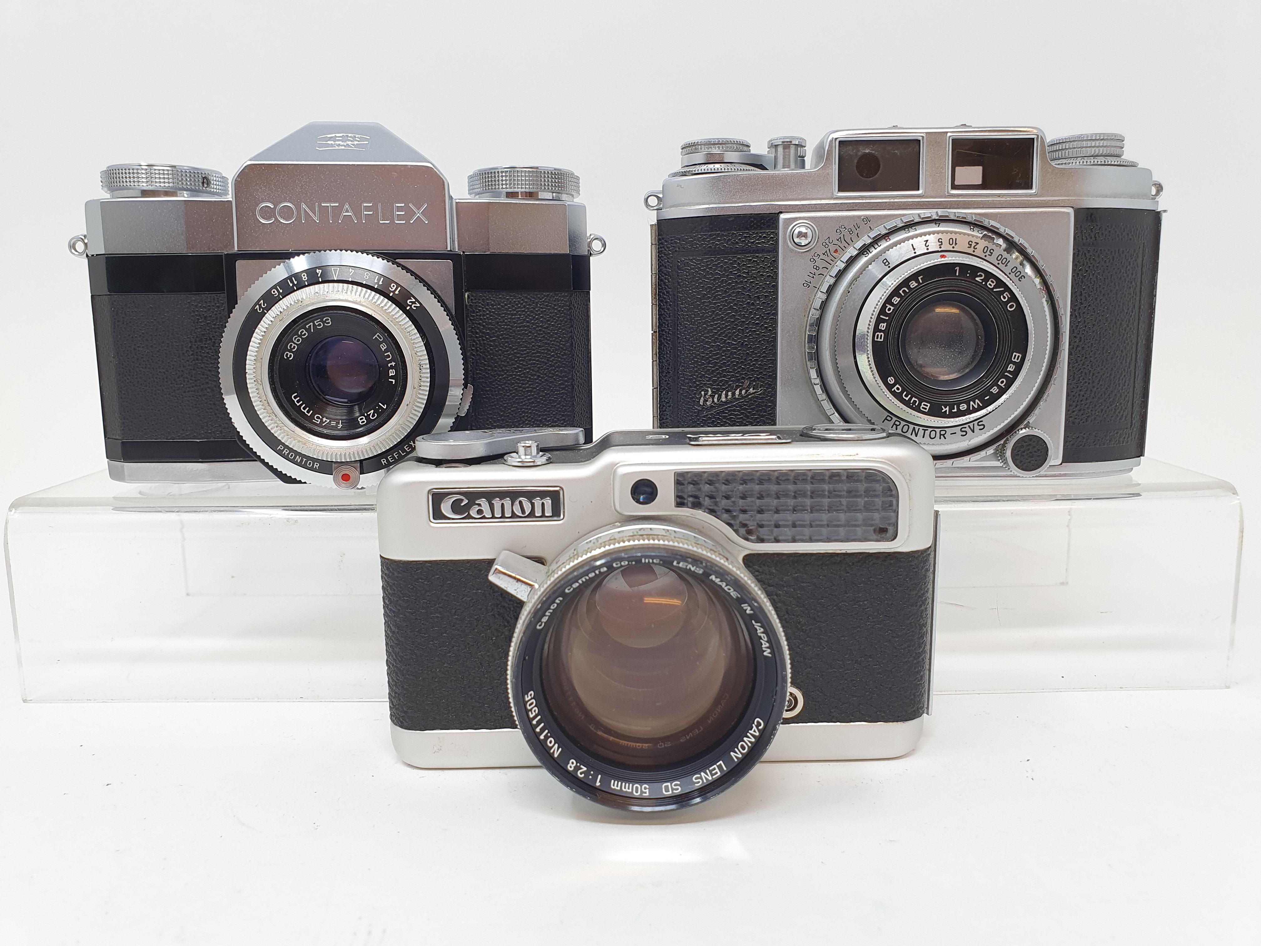 A Zeiss Ikon contaflex camera and a Balda camera and a Canon Demi zero camera (3) Provenance: Part