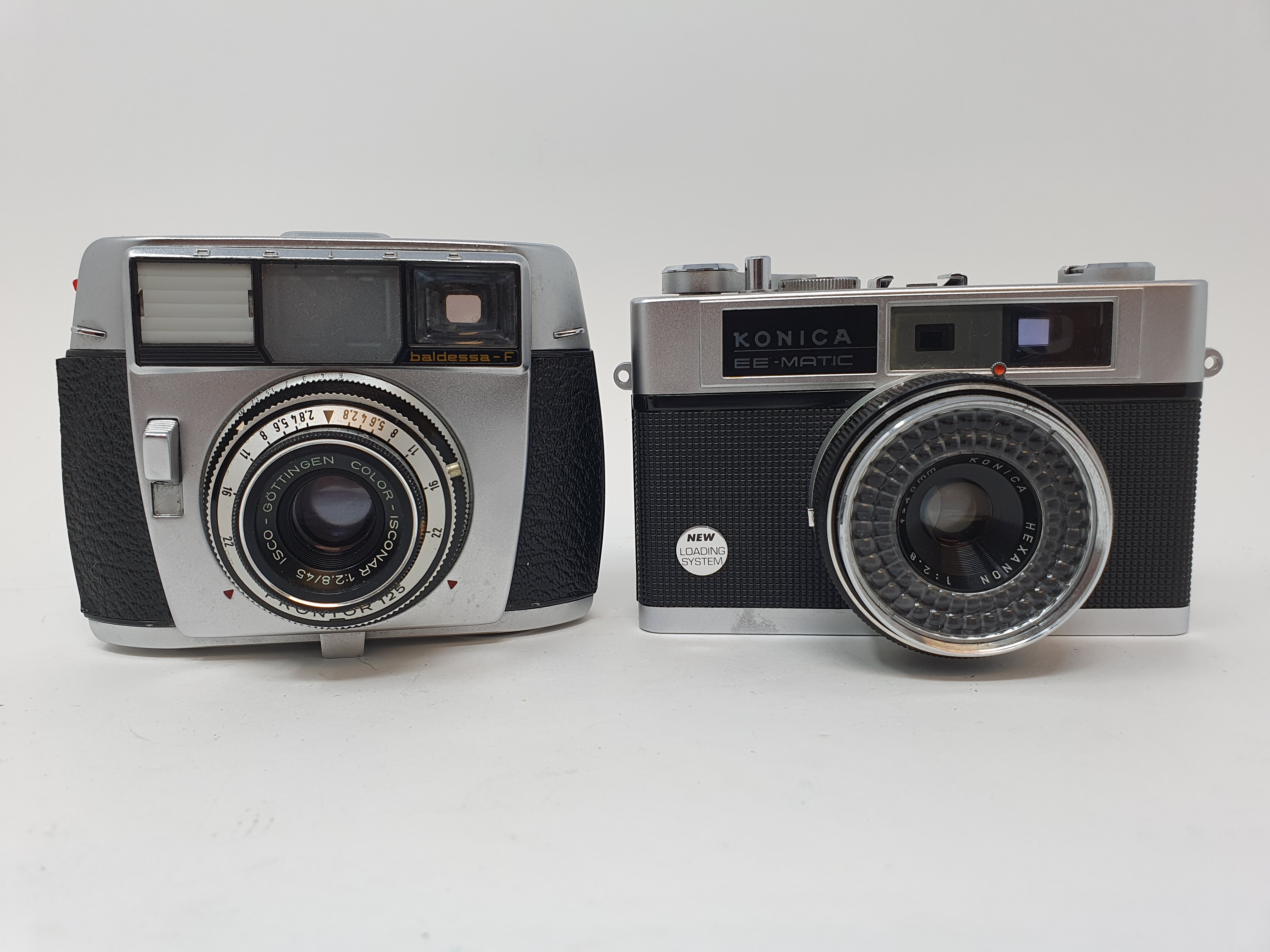 A Baldessa-F camera and a Konica EE-Matic camera (2) Provenance: Part of a vast single owner