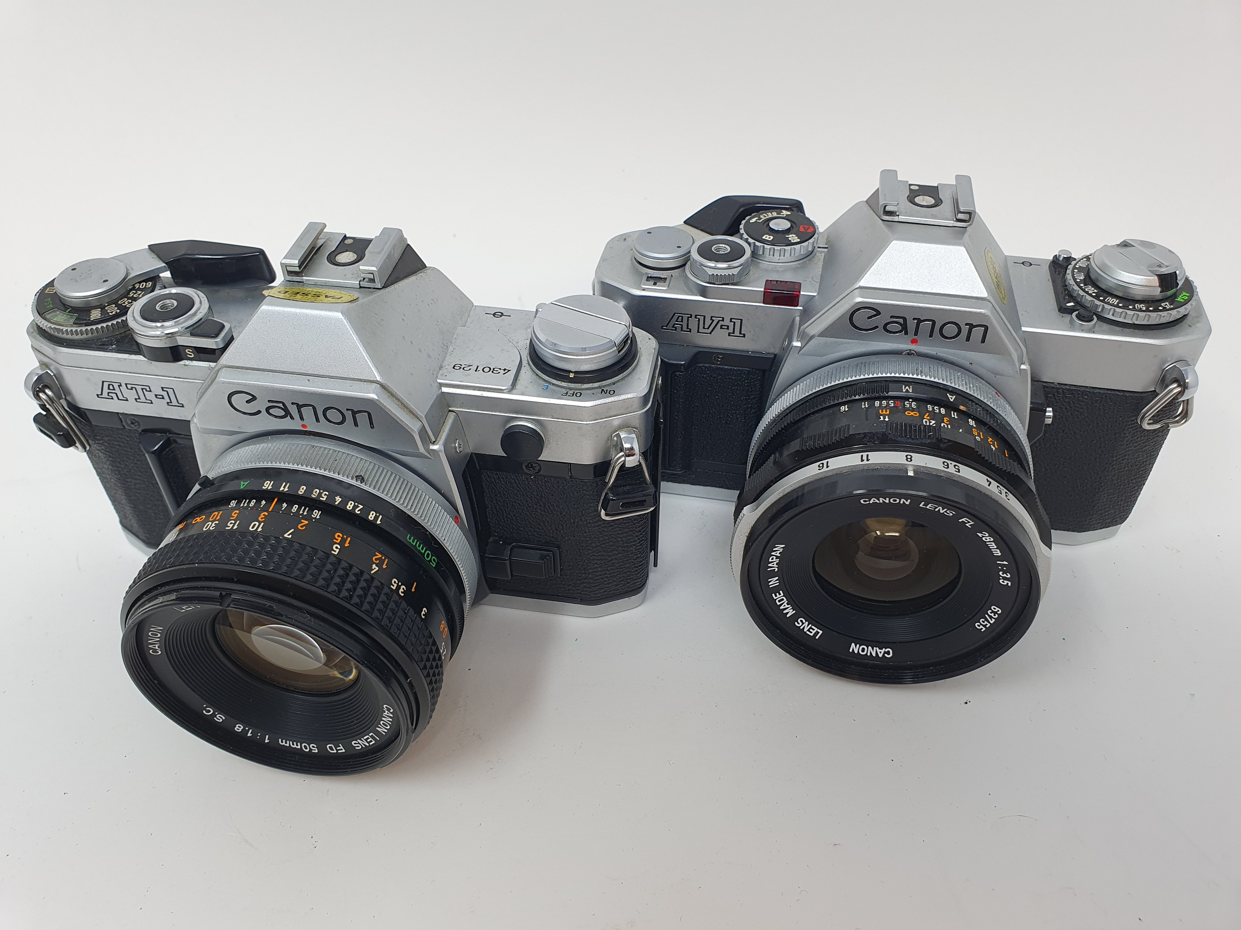 A Canon AT-1 camera and a Canon AV-1 camera (2) Provenance: Part of a vast single owner collection - Image 2 of 2