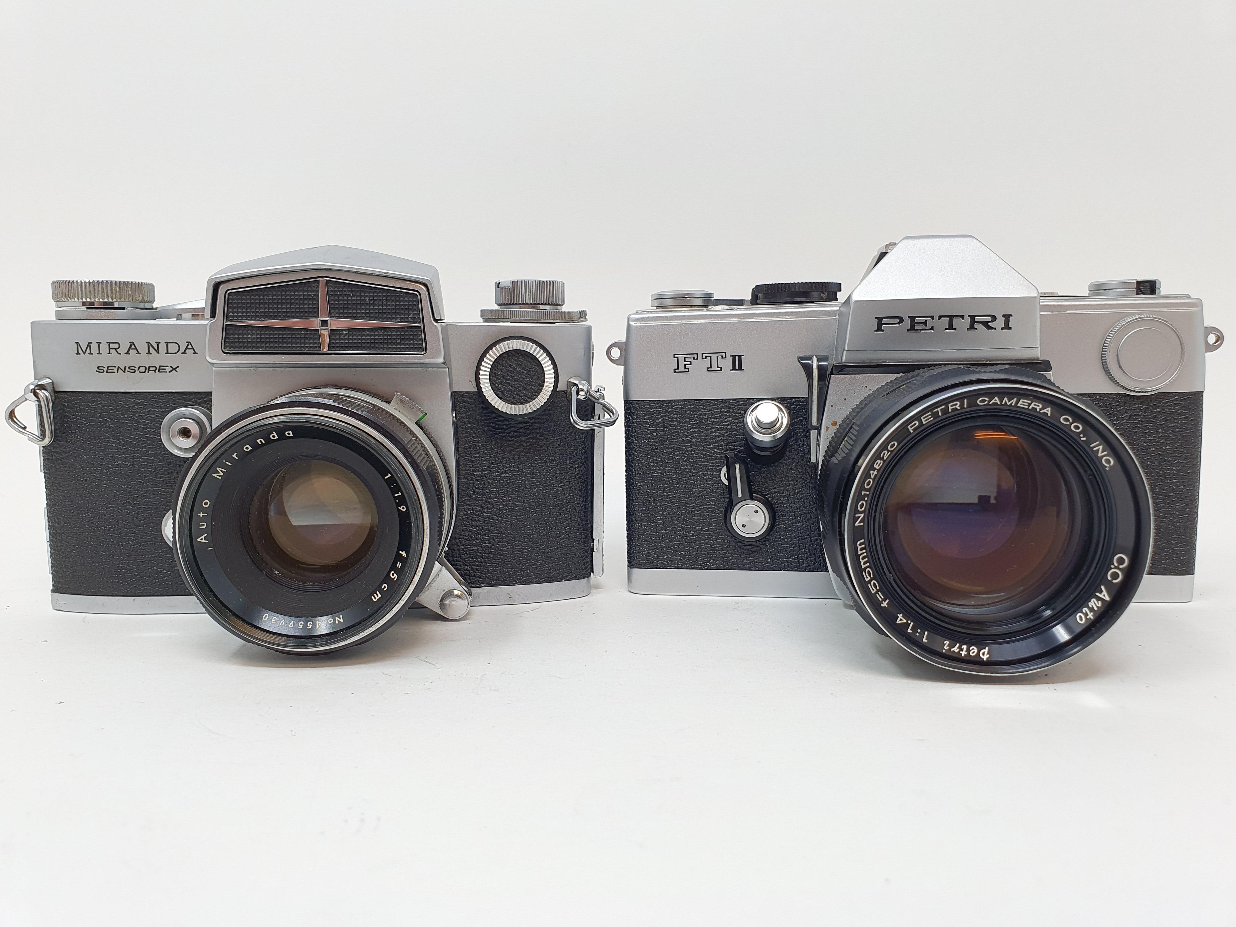 A Miranda Sensorex camera and a Petri FT II camera (2) Provenance: Part of a vast single owner