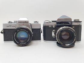 A Minolta SRT 100p camera and a Pedixa Prismat TTL camera (2) Provenance: Part of a vast single