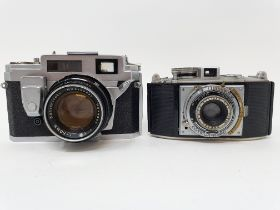A Konica III M camera, serial number 419754, and an Agfa camera (2) Provenance: Part of a vast